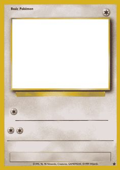 Blank Pokemon Card Template Best Photos Of Trading