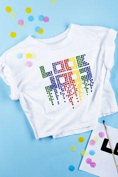 f1f1b30dc8 Decorate a t-shirt www.pandurohobby.com Remake and decorate by Panduro #