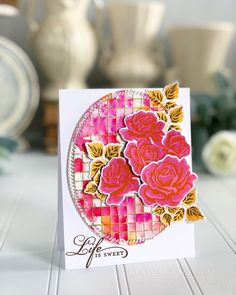 Simple To Spectacular: The Sweet Life - Life Is Sweet (Spectacular) Card by Dawn McVey for Papertrey Ink (June 2018)