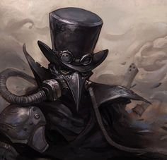 """((DM/PM only, please. Male x Male. Play a more dominate man. Starter will also be given in DM/PM)) Under the mask was a nameless man that caused many deaths. He was known as the Undertaker from the lives he took. The scared being was not in control of his body. Only mind. Every bit of that being taken by strangers he knew not of. """"Oh, deary me."""" His tone was cheery and giddy as he spoke to a man he didn't know. It was not his voice at all but he preformed a sarcastic bow, hat twirling in…"""