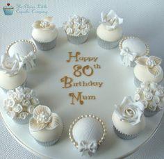 Deluxe 80th Birthday Cupcakes