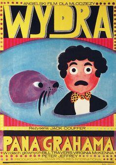 Polish Movie Poster by Maria Ihnatowicz, 1971, 'Wydra pana Grahama' by Jack Couffer.