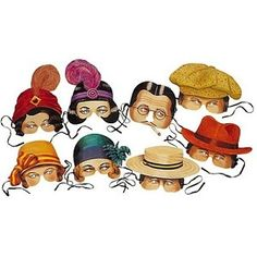 Roaring Twenties Collection Party Masks. hehehe
