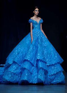 FM-1030 Haute Beautiful Lace Bridal Dresses 2016 Sexy V Neckline Royal Blue Wedding Gowns $217.30