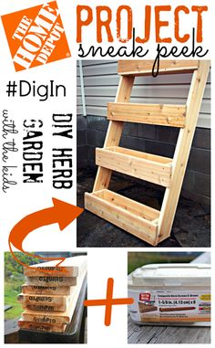 The Home Depot Project Sneak Peek {DIY Herb Garden} #DigIn. I'd love to have one of these on the patio for Matt's cooking :)