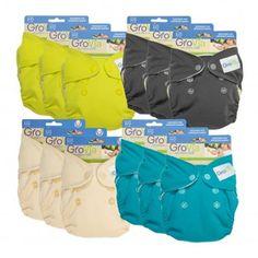GroVia Newborn AIO 12 pack - Cozy Bums Diapers