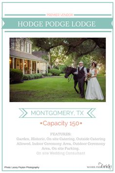 Hodge Podge Lodge - North Houston Wedding Venue Guide // WoodlandsBride.com
