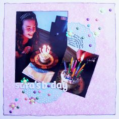 Ideas for Embellishing Scrapbook Pages with a Sprinkling or Trail | Michelle Houghton | Get It Scrapped