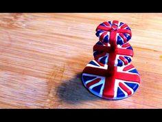how to: mini  Union Jack cake stand