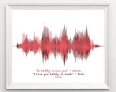 fathers day gift from kids for dad personalized voiceprint