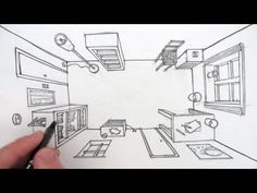 How to Draw a Room in One Point Perspective: A Bird's Eye View | Circle Line Art School on YouTube