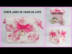Do Lixo ao Luxo - Porta jóias (ou porta esmalte) feito de Caixa de Leite - Inédito - YouTube