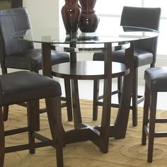 Have to have it. Standard Furniture Apollo Counter Height Glass Top Dining Table - $ @hayneedle.com