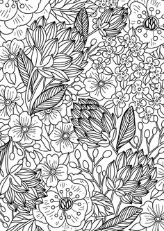 Colour calm 04 (sampler) by future plc - issuu doodle lettering, lyijykynäp Spring Coloring Pages, Free Adult Coloring Pages, Flower Coloring Pages, Mandala Coloring Pages, Coloring Book Pages, Printable Coloring Pages, Coloring Sheets, Calming Colors, Hand Drawn Flowers