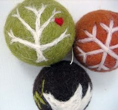 felt ornaments by feltcafe, via Flickr