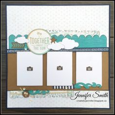 'Amazing' layout by Jennifer Smith. CTMH No Worries