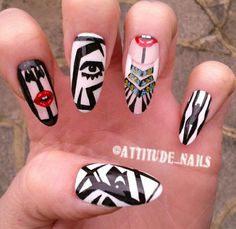 My nails inspired by the amazing artist/designer...
