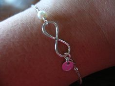 Infinity Bracelet Personalize Infinity Jewelry by ModernandChic