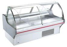 curved glass display deli showcase supermarket freezer guangzhou manufacturer OEM available Split type