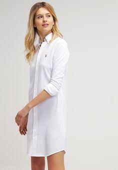 Robes Polo Ralph Lauren Robe chemise - white blanc  170,00 € chez Zalando b7e38f5edfa