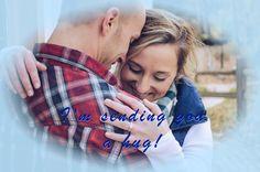 Actions speak louder than words. Sending You A Hug, Actions Speak Louder Than Words, Hugs, Plaid Scarf, Couple Photos, Couples, Big Hugs, Couple Shots, Couple