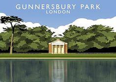 Gunnersbury Park, London Art Print (A3) Chequered Chicken https://www.amazon.co.uk/dp/B077CPXKFG/ref=cm_sw_r_pi_dp_x_7ficAbAZFETQ3