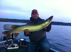 First cast & first catch of the year...41-inch muskie on Pewaukee Lake!