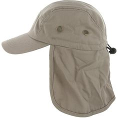 c74206c3f74e9 Fishing Cap with Ear and Neck Flap Cover - Outdoor Sun Protection - Khaki -  C111VTKVPUB