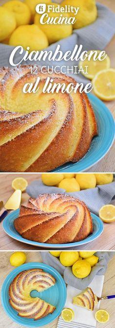 Il ciambellone 12 cucchiai al limone è un dolce facile e veloce da preparare. Nessun ingrediente da pesare ma solo un cucchiaio come unità di misura. Ecco la ricetta Sweet Recipes, Cake Recipes, Dessert Recipes, Best Italian Recipes, Favorite Recipes, Lime Cake, Pie Dessert, Easy Desserts, Chocolates