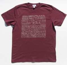 Egypt on men's burgundy 100% organic t-shirt
