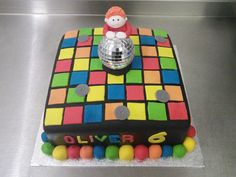 Disco Dance Floor 6th Birthday cake by Lucy at Crumbs