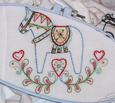 Dala Horse / Sew Lovely Embroidery pattern by giddy99, via Flickr