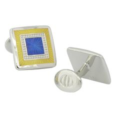 Check out the deal on Lemon & Blue Square Cufflinks at Cufflinks Depot