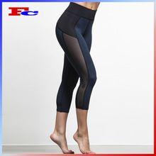 acc3a18f6ad High Quality Mesh Insert Capri Tights Custom Wholesale Women Yoga Pants  Best Buy follow this link