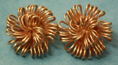 Vintage Bergere Starburst Modernist Gold Tone Earrings Clip On   eBay