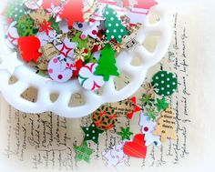 Christmas Holiday Confetti Mix | Vintage Scrap Shop