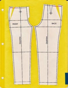 FANTASTIC reference for adjusting pant fit! I remember doing this for school, but be damned if I could find those little pants again. So awesome. Cation Designs: Pants Pattern Alterations