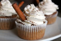 Chai Latte cupcakes... I have actually made these before... delicious!