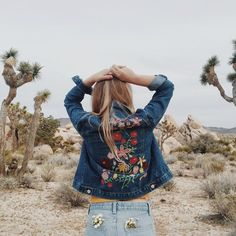 Kimchi Blue Woodstock Embroidered Denim Jacket - Urban Outfitters