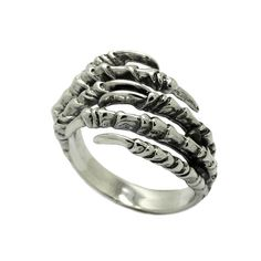 Claws Woman's Ring Sterling Silver 925 SKU K639 925 Silver, Sterling Silver Rings, Claws, Plating, Rings For Men, Wedding Rings, Engagement Rings, Metal, Jewelry