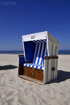 Beach chairs, Westerland, Sylt, North Frisian Island, Schleswig Holstein, Germany