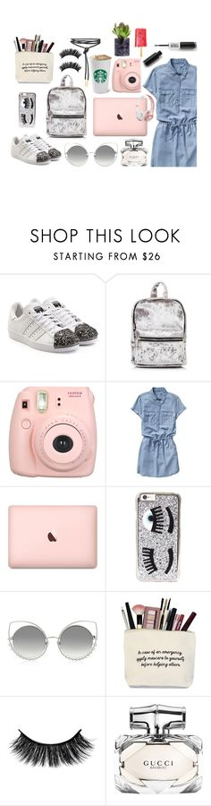 """#Style04"" by leliuscris ❤ liked on Polyvore featuring adidas Originals, Fujifilm, Gap, Chiara Ferragni, Marc Jacobs, Gucci and Beats by Dr. Dre"