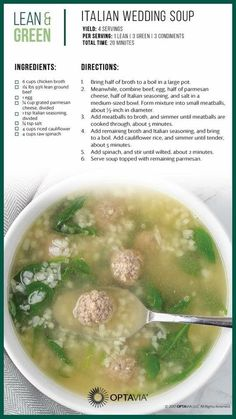 Lean and Green soup Soup Recipes, Diet Recipes, Cooking Recipes, Healthy Recipes, Lean Recipes, Healthy Meals, Cafe Recipes, Copycat Recipes, Cooking Ideas