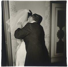 DianeArbus, Groom Kissing His Bride, NYC, 1965