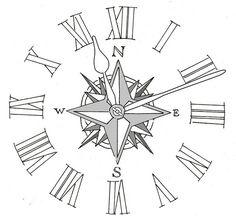 Compass Clock Tattoos Melting clock tattoo drawing fresh 2016 tattoos ...