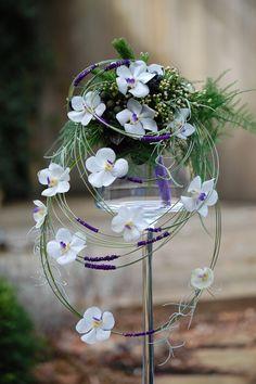 Modern trouwboeket met Vanda orchidee