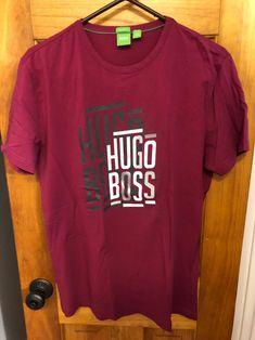 Hugo Boss Mens T-Shirt Large on Mercari Hugo Boss Man, Swag Outfits, Mens Tops, T Shirt, Typography, Polo, Fashion, Stylish Clothes, Supreme T Shirt