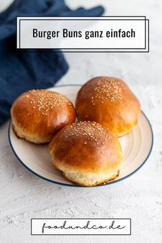Brioche Burger Buns aus nur 7 Zutaten, die Du bestimmt Zuhause hast.