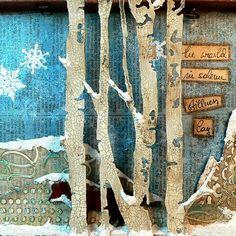 Von Pappe II: Winter Wonderland Challenge at DecoArt Media