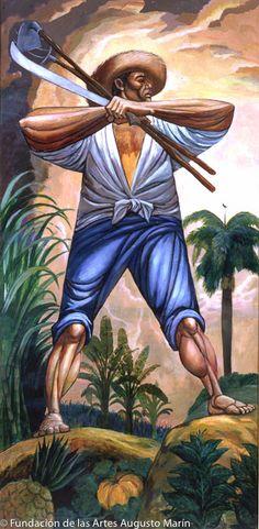 pinturas de puerto rico   El agricultor 1960 Museo de Arte de Puerto Rico